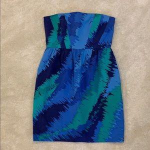 Shoshanna strapless summer cocktail dress size 4